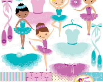 Ballerina clipart ballerina dress. Little ballerinas clip art