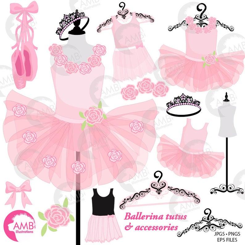 Ballet tutus pink costumes. Ballerina clipart ballerina dress