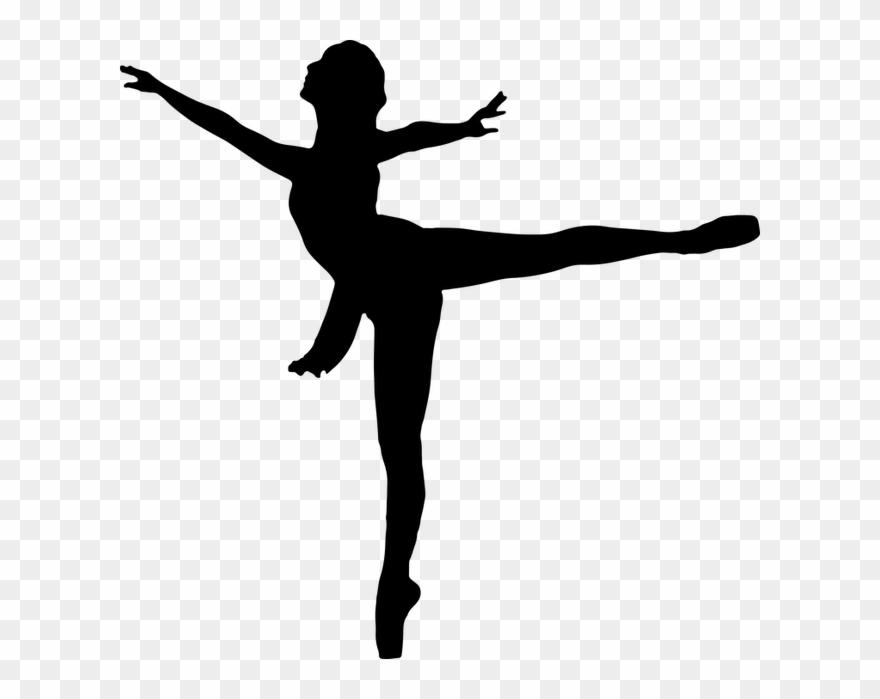 Female girl silhouette . Ballerina clipart ballet dancer