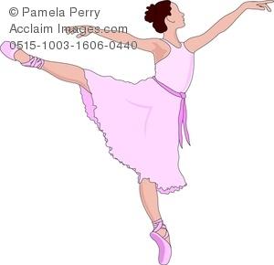 Ballerina clipart ballet dancer. Clip art image of