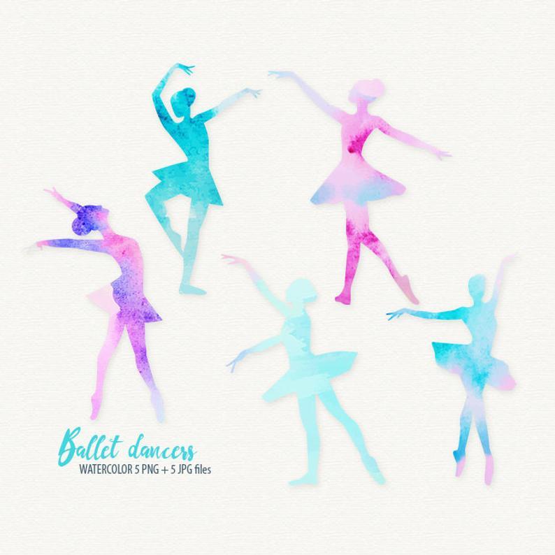 Ballerina clipart ballet dancer. Dance watercolor