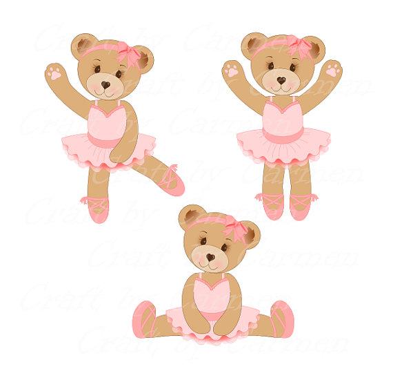 Cute bear sweet teddy. Bears clipart ballerina