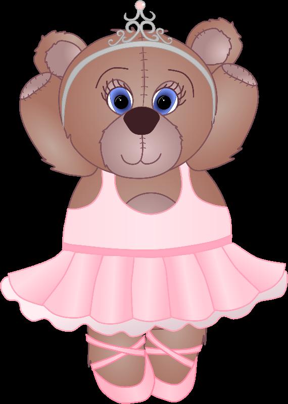 Teddy bear gifts by. Bears clipart ballerina