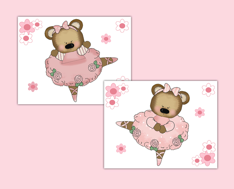 Pink teddy bear wallpaper. Bears clipart ballerina