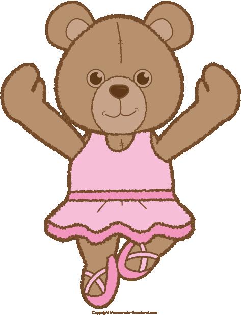 Teddy bear click to. Bears clipart ballerina