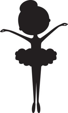 Ballerina clipart black and white.  ideas about silhouette
