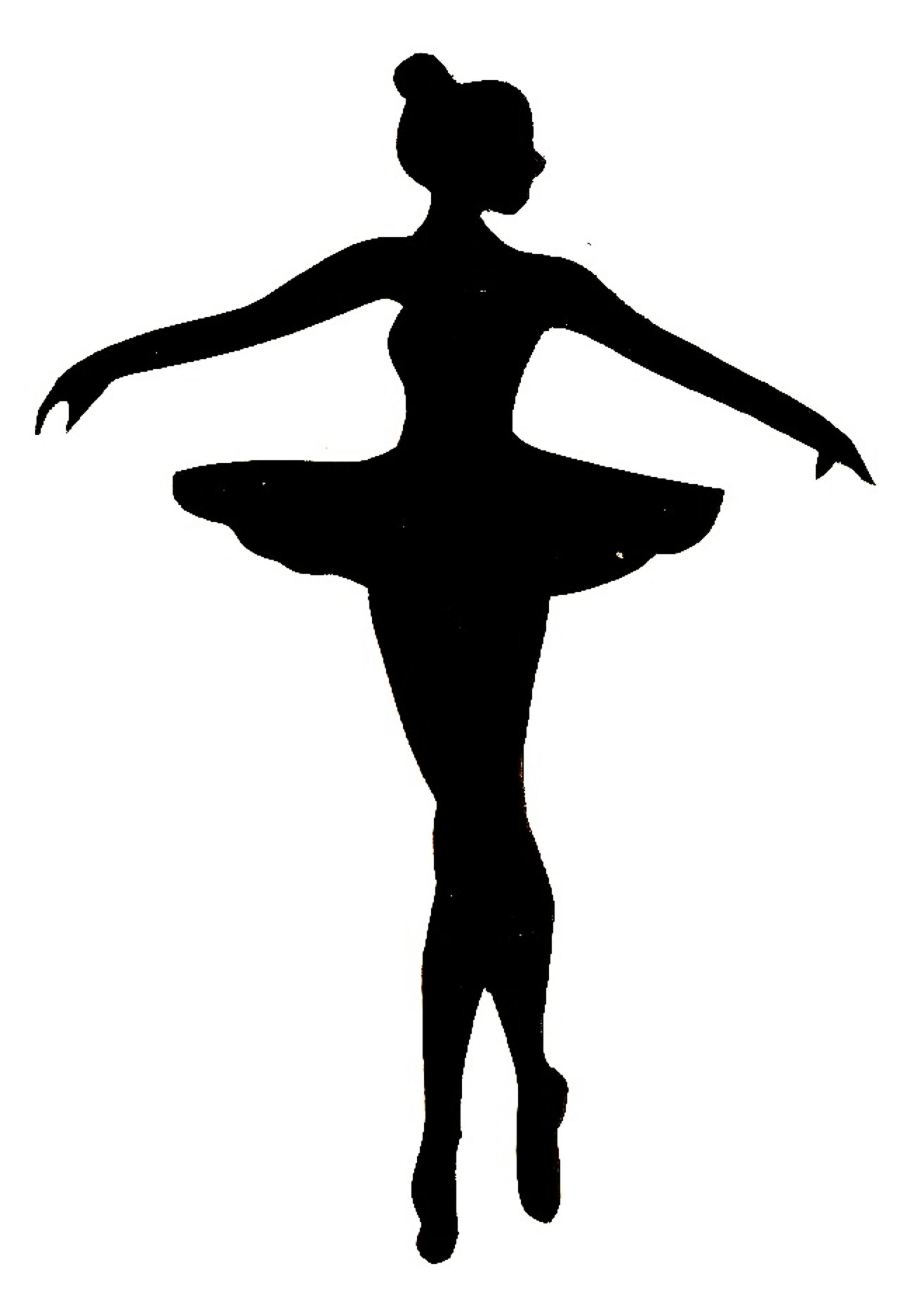 Ballerina clipart black and white. Pencil in color