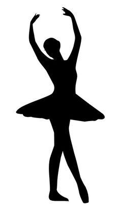 Ballerina clipart black and white. Free download clip