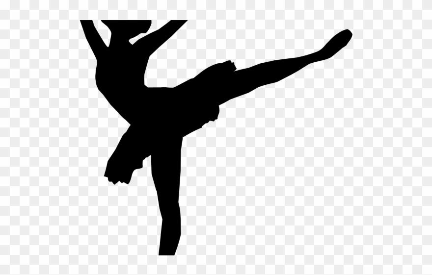 Dancer silhouette clip art. Ballerina clipart black and white