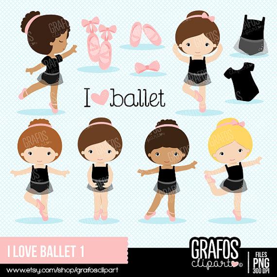Ballet clipart boys. I love digital set