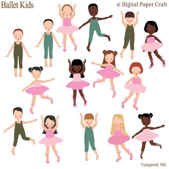 Ballet jazz dance . Ballerina clipart child