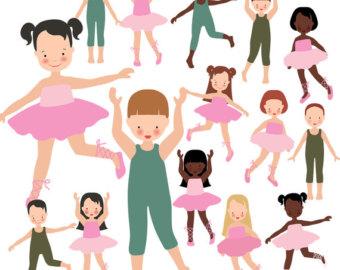 Clip art etsy ballet. Ballerina clipart child
