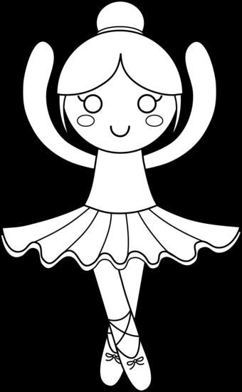 Ballerina clipart color. Black and white pencil