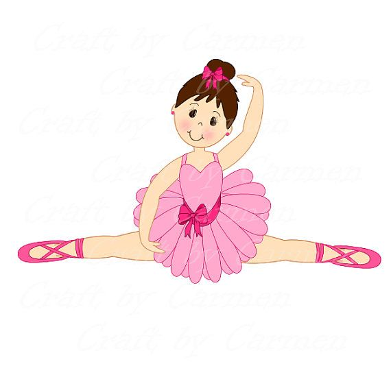 Transparent pencil and in. Ballerina clipart color