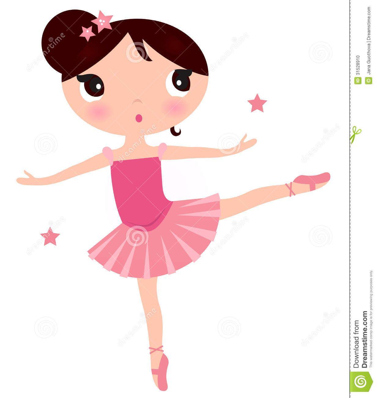 Printable cute ballerina clip. Ballet clipart little girl
