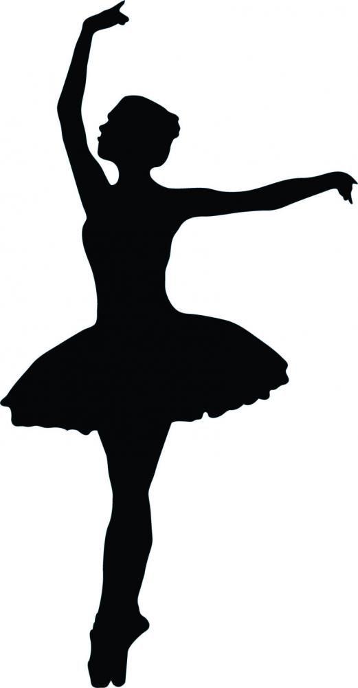 Ballet dancing silhouette at. Ballerina clipart easy