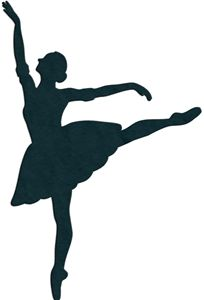 Silhouette at getdrawings com. Ballerina clipart easy