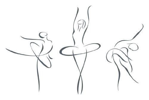 Ballet silhouette draw in. Ballerina clipart easy