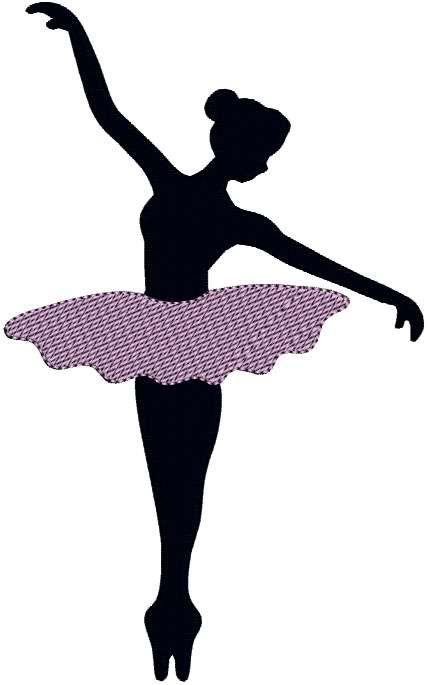 Ballerina clipart easy. Male ballet dancer silhouette