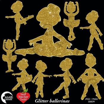 Ballerina clipart gold glitter. Ballet silhouette clip art