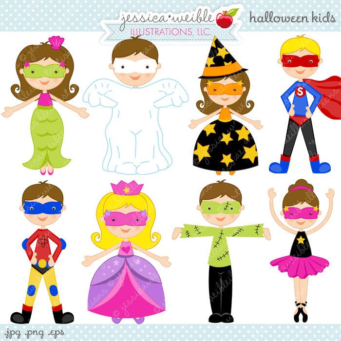 Kids cute digital commercial. Ballerina clipart halloween
