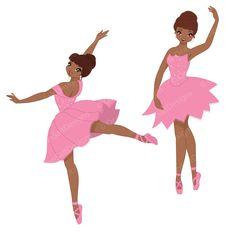 Ballerina clipart halloween. African american digital clip