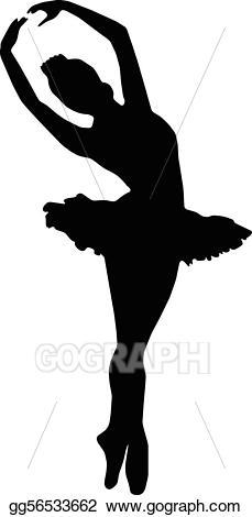 Ballerina clipart lady. Vector dance girl ballet
