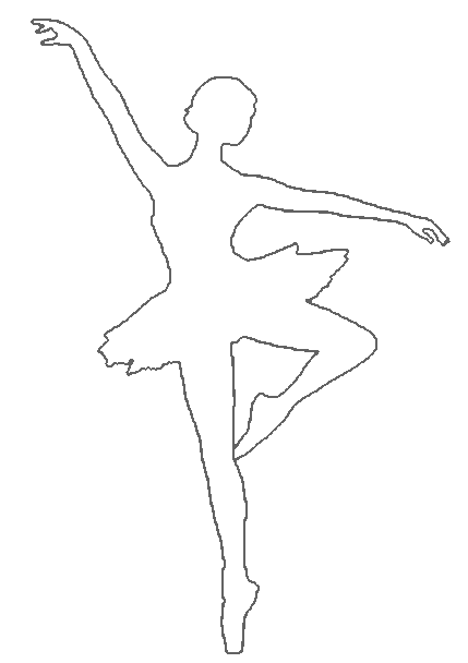 Ballerina clipart outline. Free dancer download clip