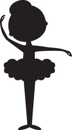 Silhouette minus p s. Ballerina clipart outline