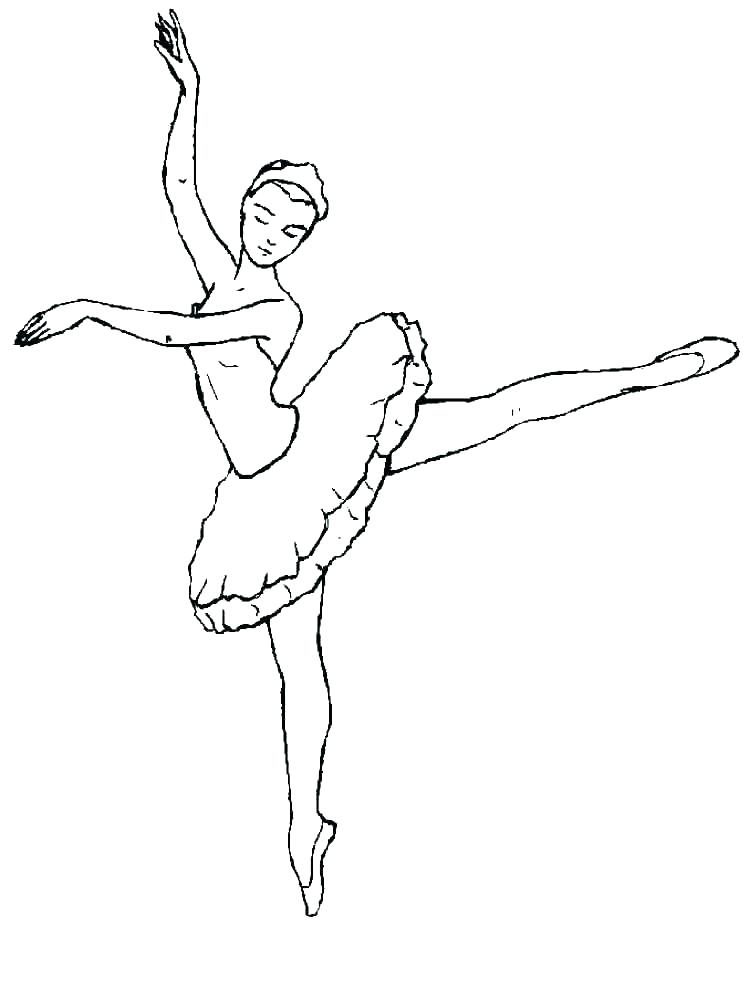 Ballerina clipart outline. Coloring pages book