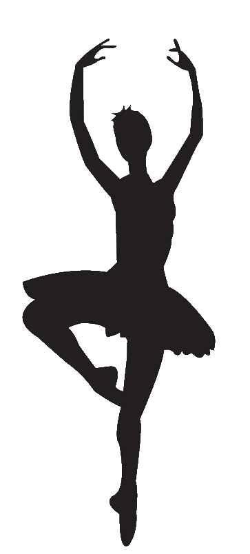 Dancer silhouette panda free. Ballet clipart ballerina