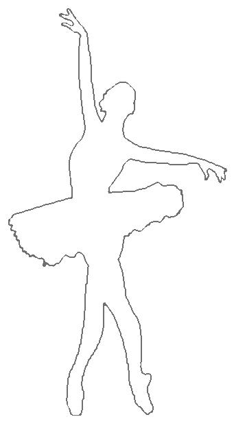 Free download clip art. Ballerina clipart outline