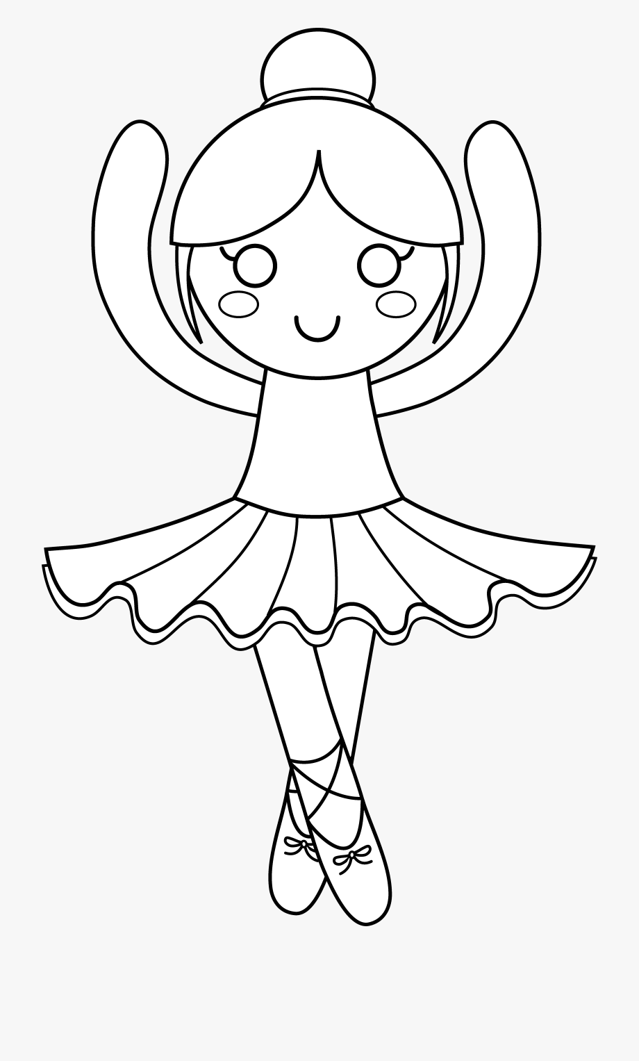 Ballet cute coloring pages. Ballerina clipart outline