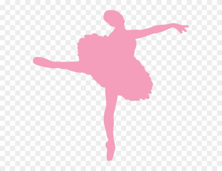 Ballet dancer silhouette shoe. Ballerina clipart pink ballerina