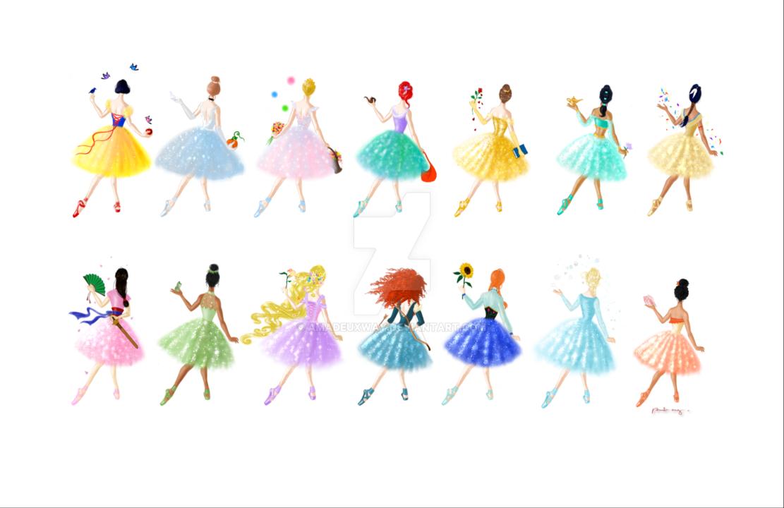 Princesses by amadeuxway on. Ballerina clipart princess ballerina