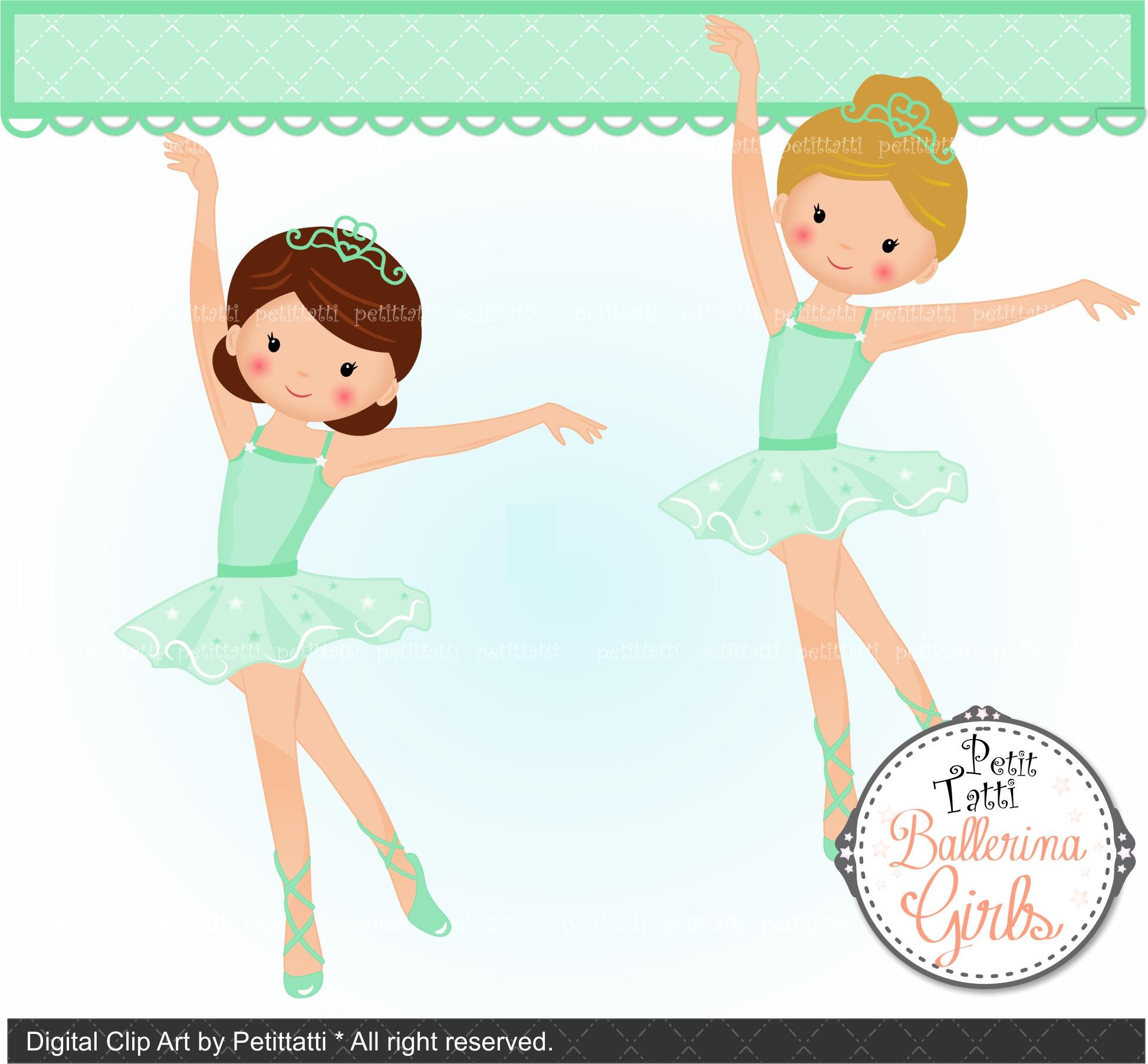 On sale ballerina clip. Ballet clipart princess