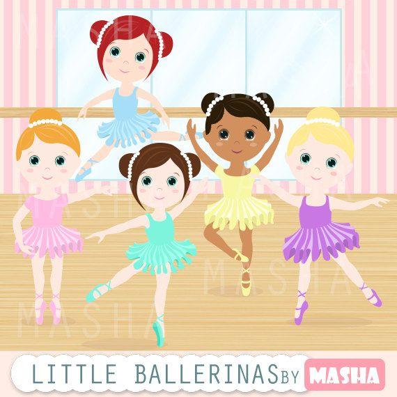 Little for scrapbooking card. Ballerina clipart ribbon