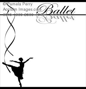 Ballerina clipart ribbon. Clip art image of