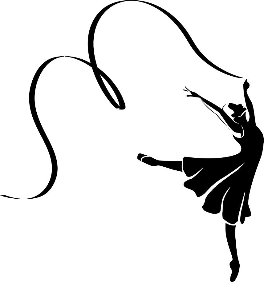 Silhouette clip art free. Ballerina clipart ribbon
