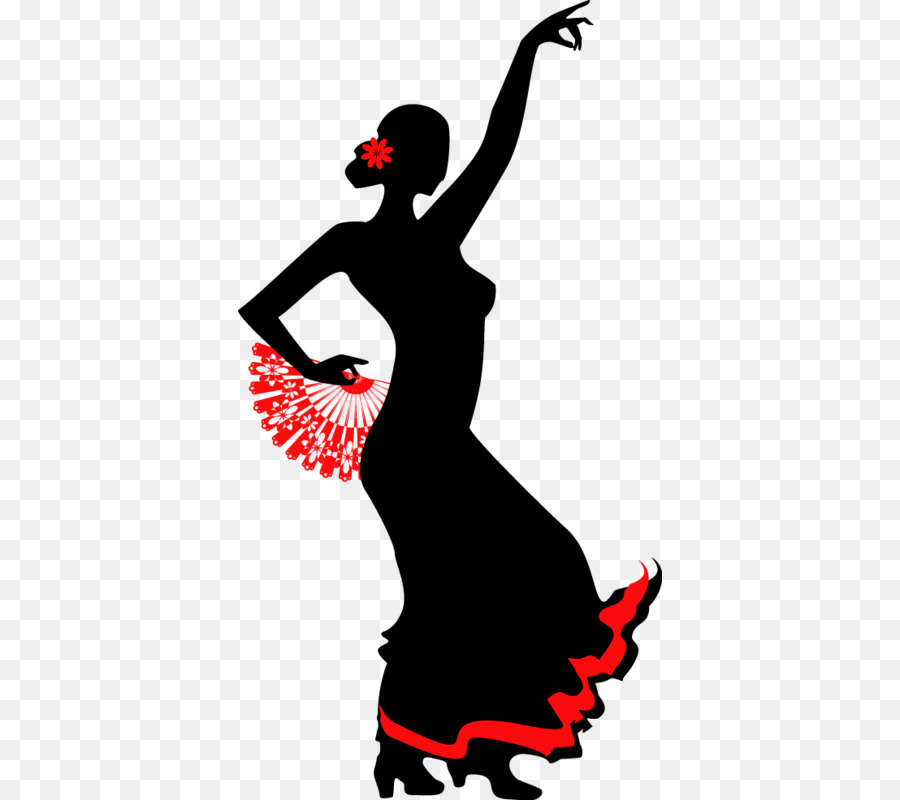 Flamenco dance stock illustration. Ballerina clipart shadow