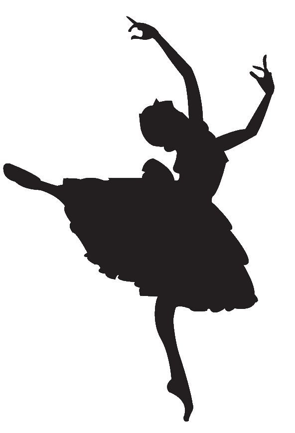 Ballet dancer silhouette panda. Ballerina clipart shadow