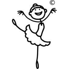 Ni family ballet dancer. Ballerina clipart stick figure