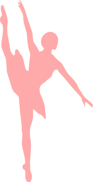 Ballerina clipart top. Ballet slippers silhouette at