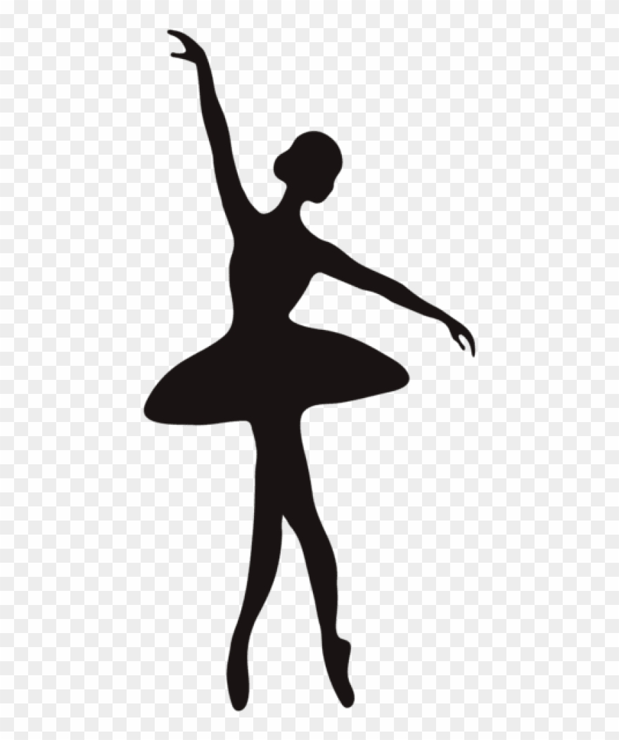 Ballerina clipart transparent background. Silhouette png