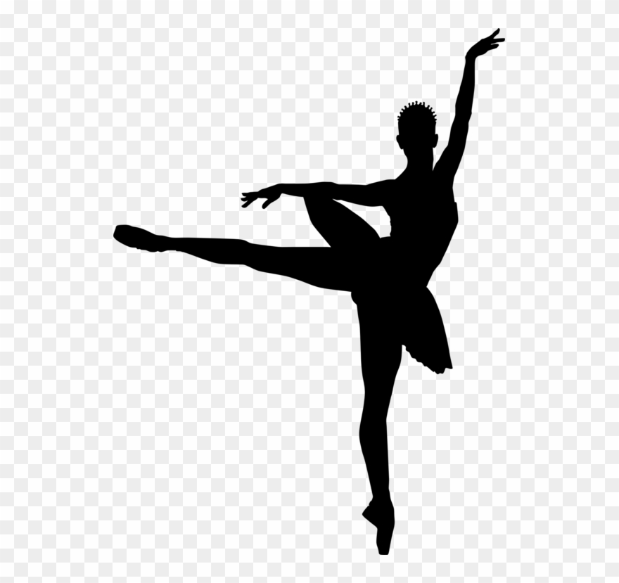 Dancer silhouette little . Ballerina clipart transparent background