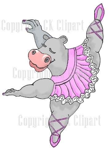 Ck. Hippo clipart ballerina