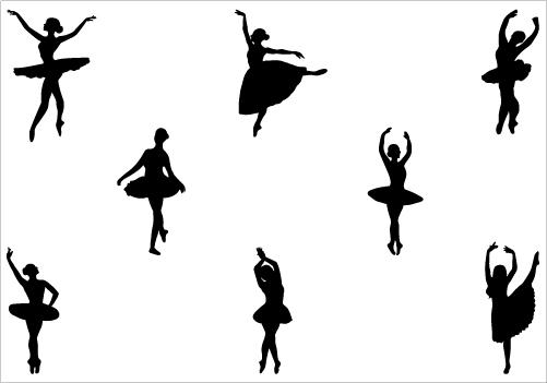 Ballerina clipart vector. Free ballet silhouette download