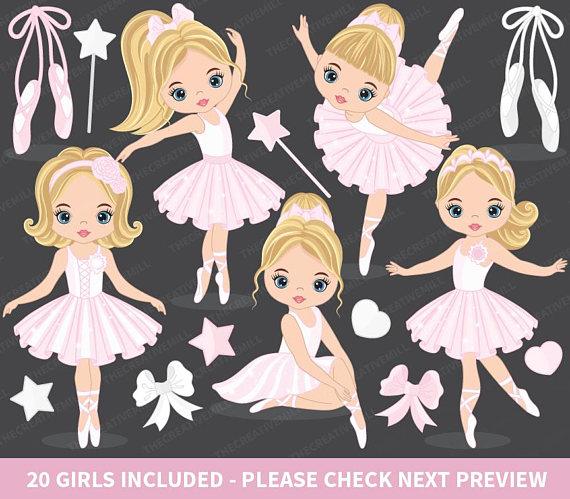 Ballerina clipart vector. Ballet