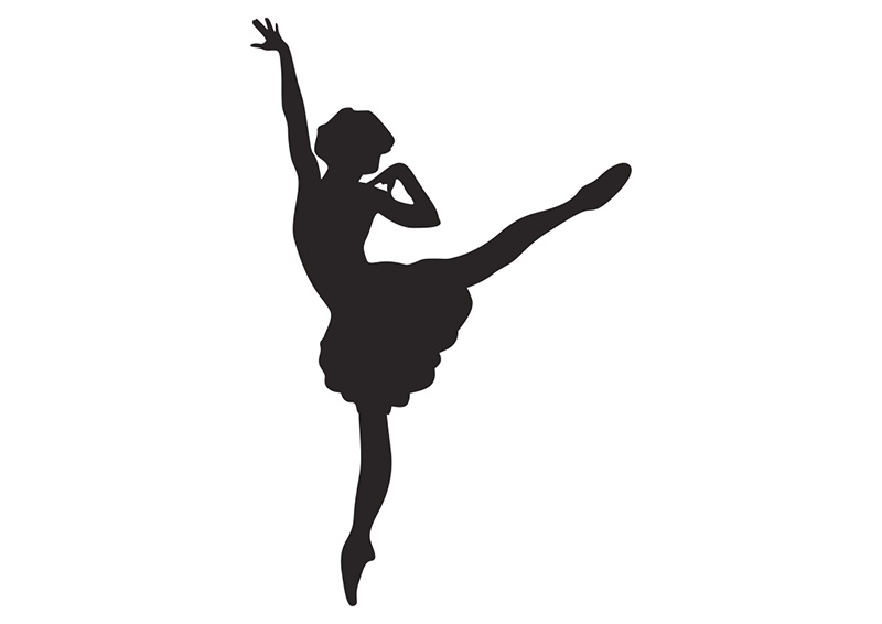 Silhouette of a dancer. Ballerina clipart vector