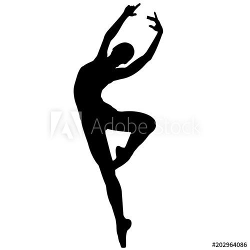 Ballerina clipart vector. Dancer silhouette ballet dance